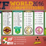 JIF World Competitions Valenciennes 2016: il quadro partecipanti